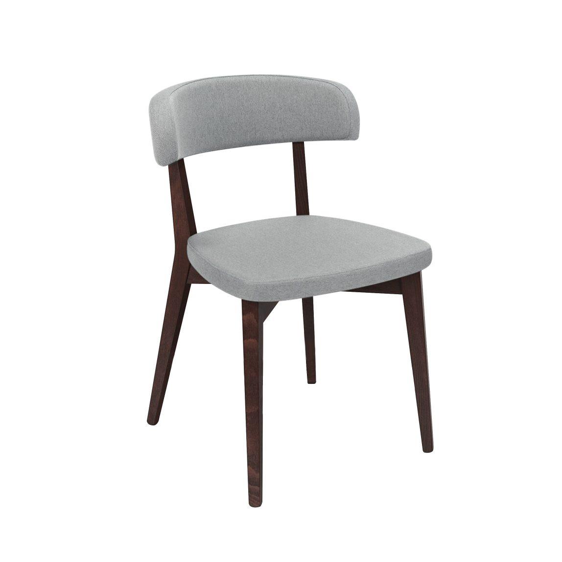 Современный стул рогожка серый