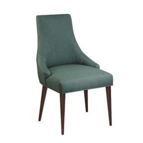 Темно-зеленый стул в рогожке