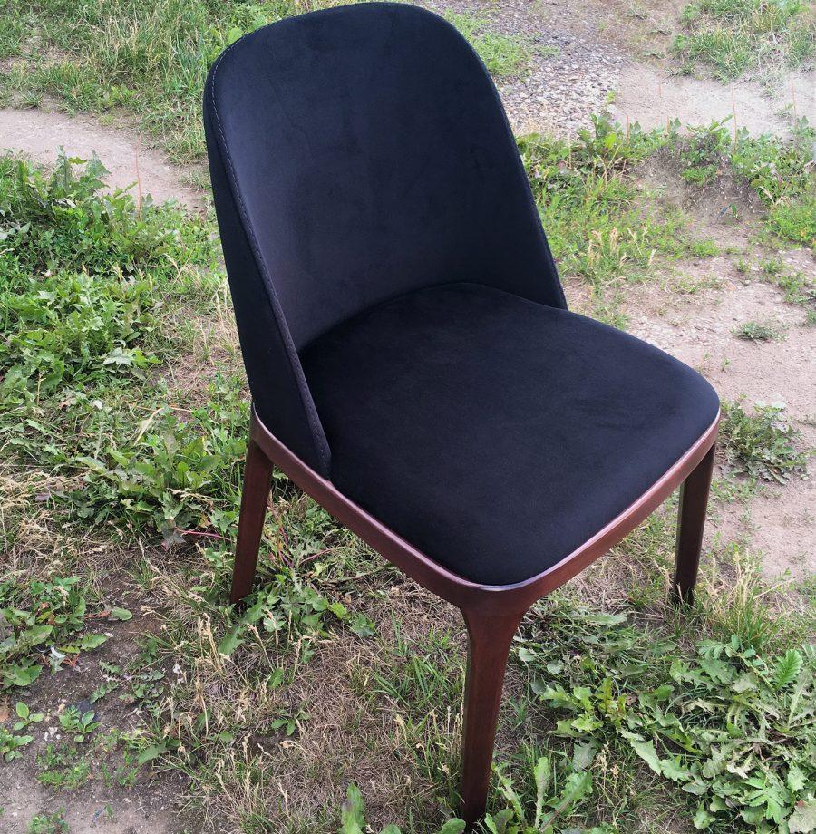 Дизайнерский стул Грей с деревянной окантовкой сиденья