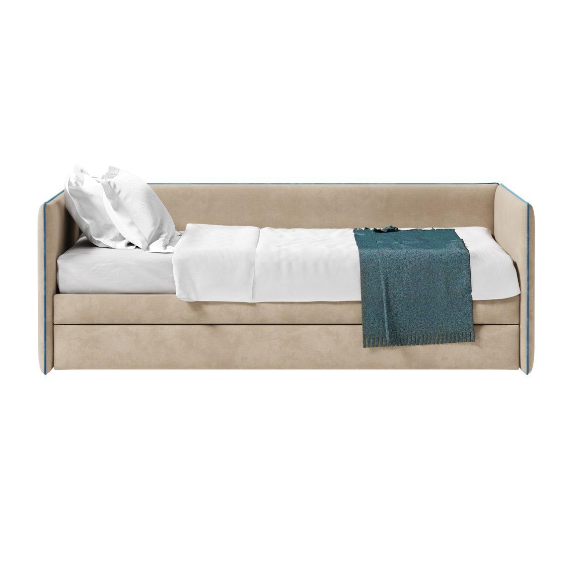 Детская кроватка-диванчик Берт с мягкими бортами