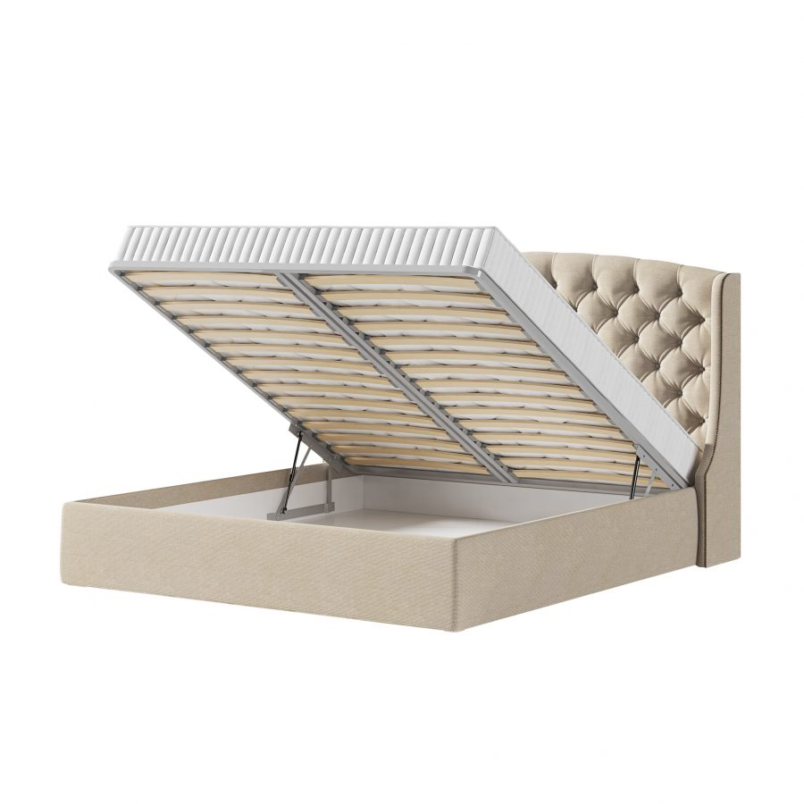 Кровать Эдисон сортопедической решеткой с пневматическими подъемниками