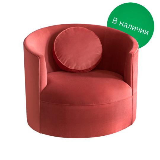 LAVSIT_Rolan_modernism_60s_kreslo_barhat_krugloe_chair_kreslo_white_front_coral_stock_02