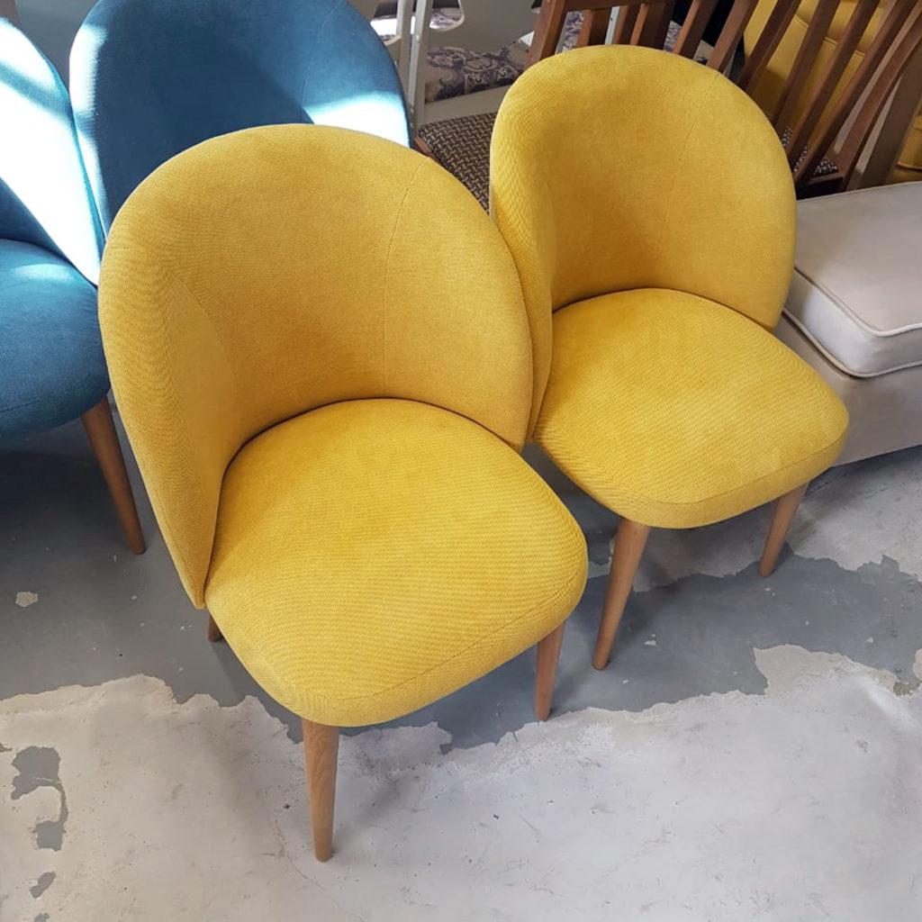 Стильный желтый стул Тимон