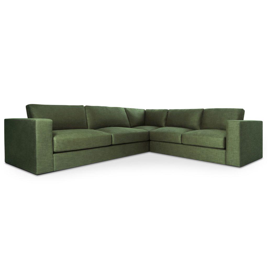 Стильный глубокий диван Палмер с мягкими подушками