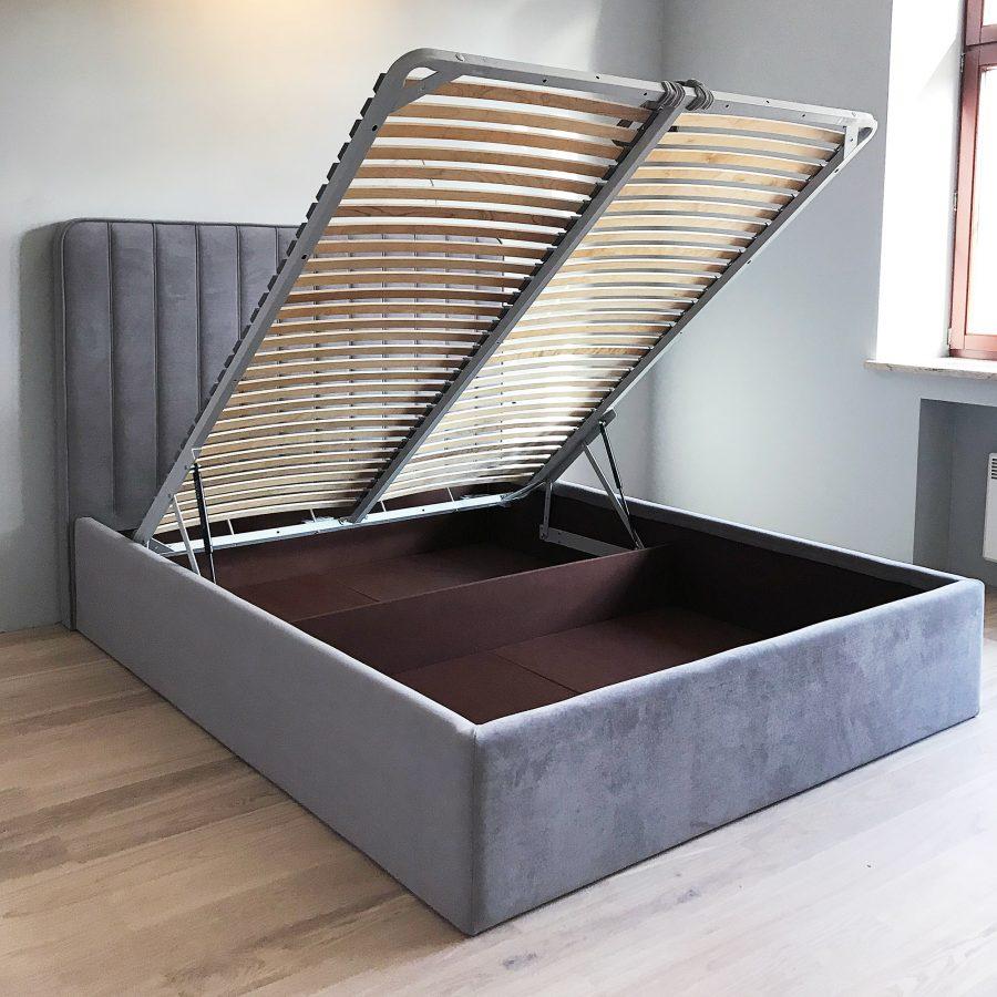 Кровать Дилан с ортопедической решеткой с немецкими пневматическими подъемниками