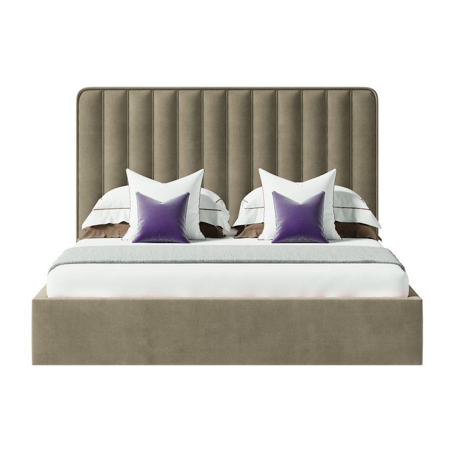 Кровать с вертикальными полосами