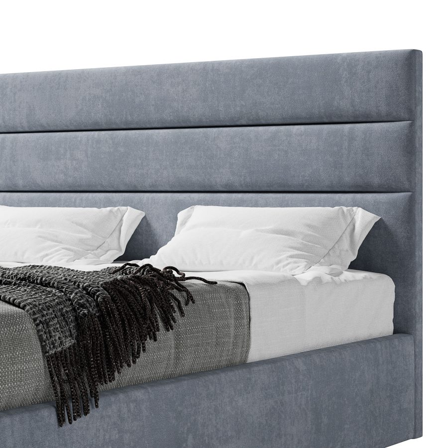 Кровать Колин с мягким высоким изголовьем