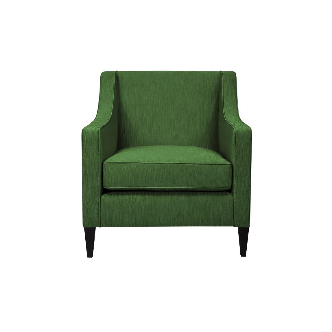 Мягкое удобное кресло Патрик с покатыми подлокотниками