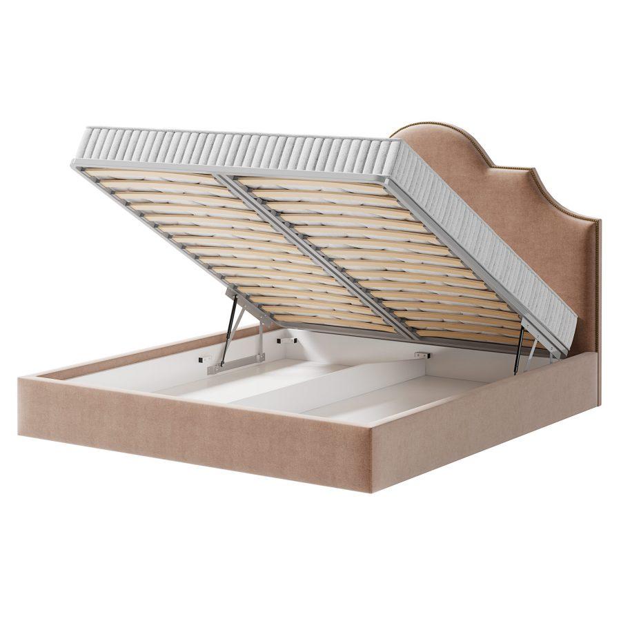Кровать Шелдон с ортопедической решеткой с немецкими пневматическими подъемниками в комплекте