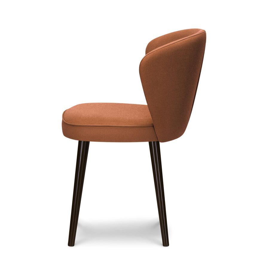 обеденный мягкий стул Томми с изогнутой спинкой