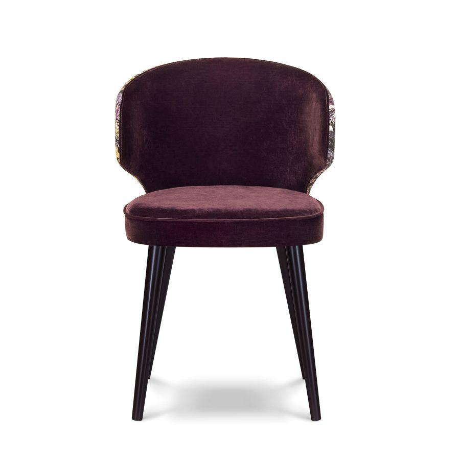 Стильный обеденный стул Вито с облегающей спинкой и подлокотниками в виде ушек