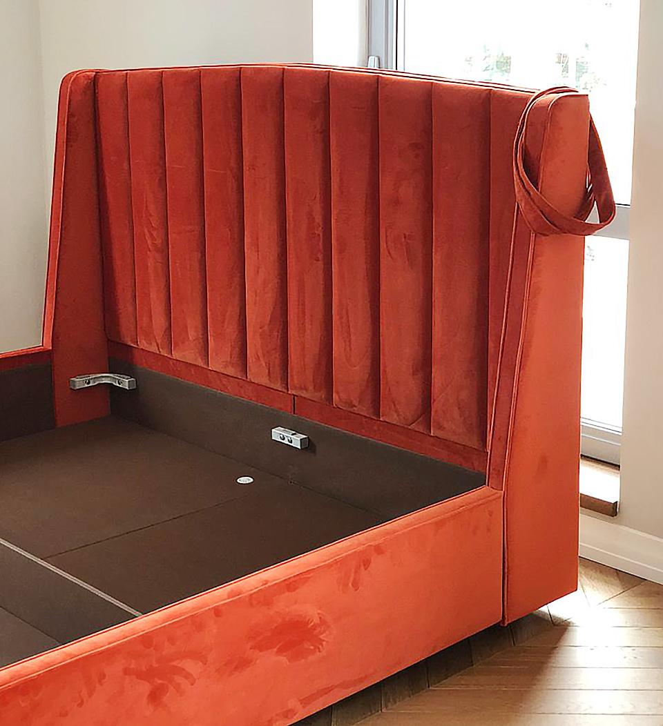 Кровать с панельным изголовьем Фабьен