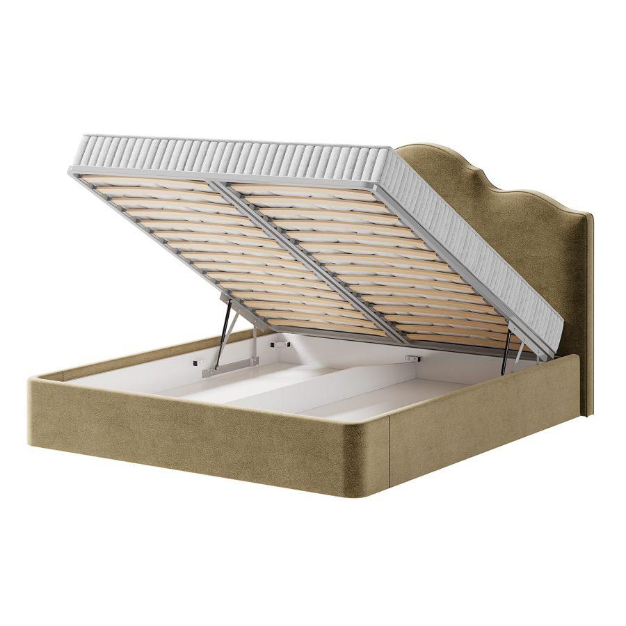Кровать Диас с бельевым дном и ортопедической решеткой с подъемным механизмом