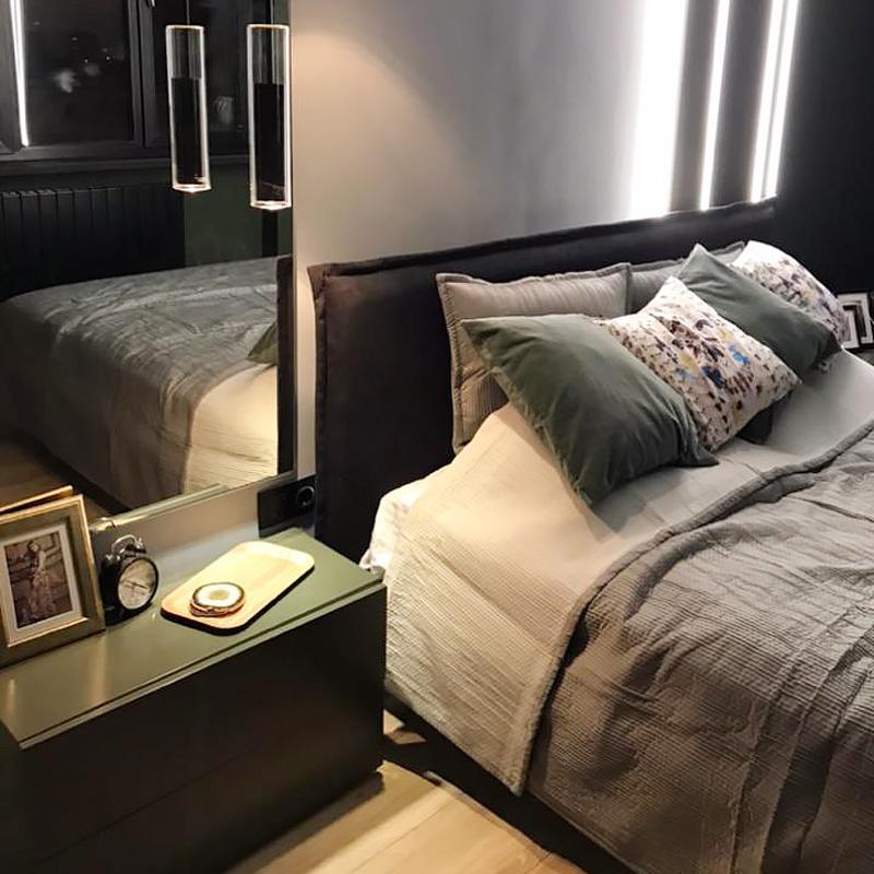 Кровать с широким швом кантом