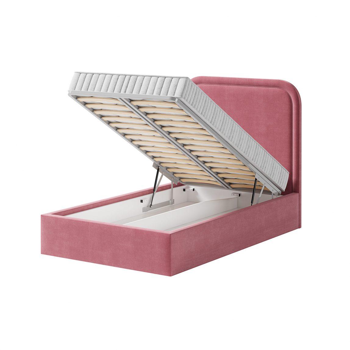кровать с радиусным изголовьем и подъемной решеткой