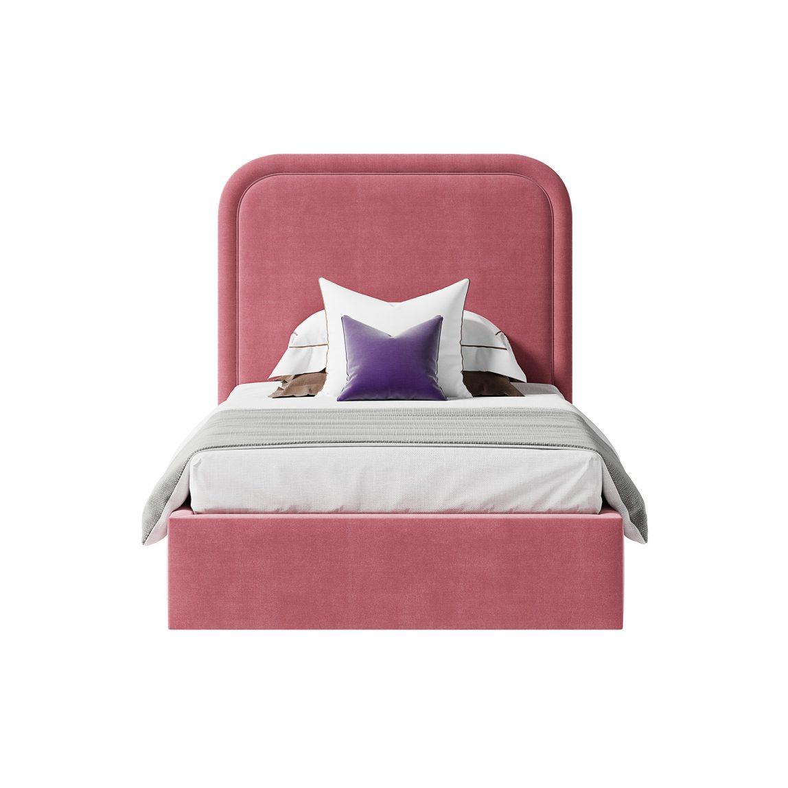 кровать Лукас с радиусным изголовьем