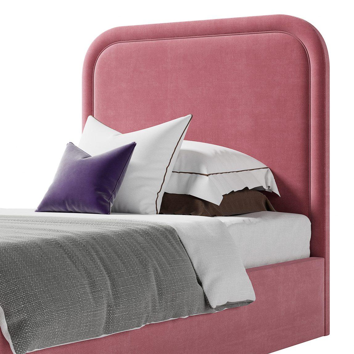 кровать к красивым изголовьем