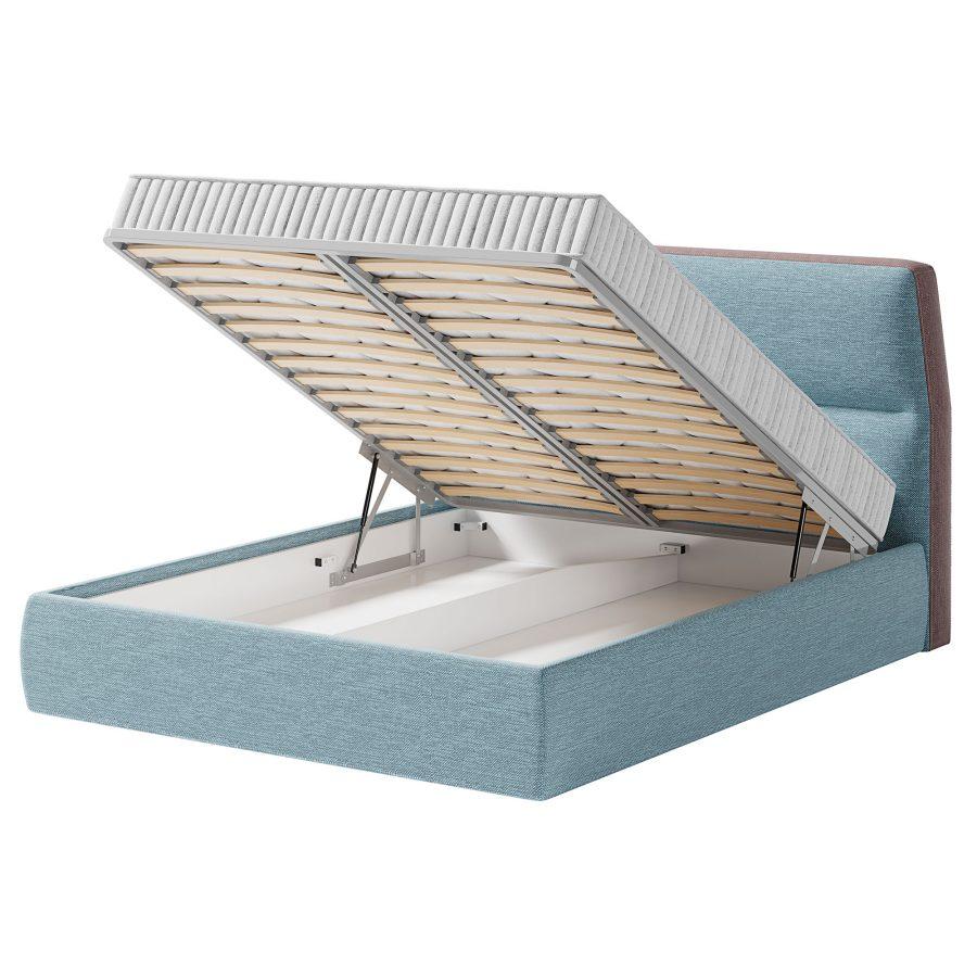 Кровать мягким изголовьем и ортопедической решеткой Нолан
