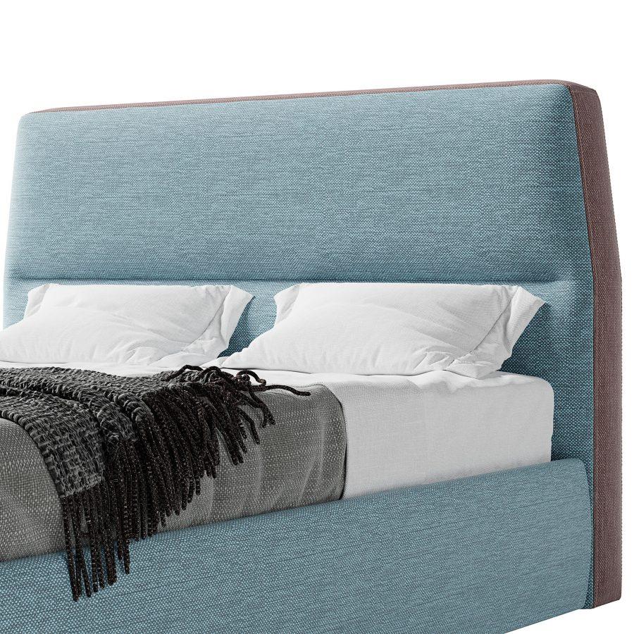 Кровать Нолан с высоким стильным изголовьем в современном стиле
