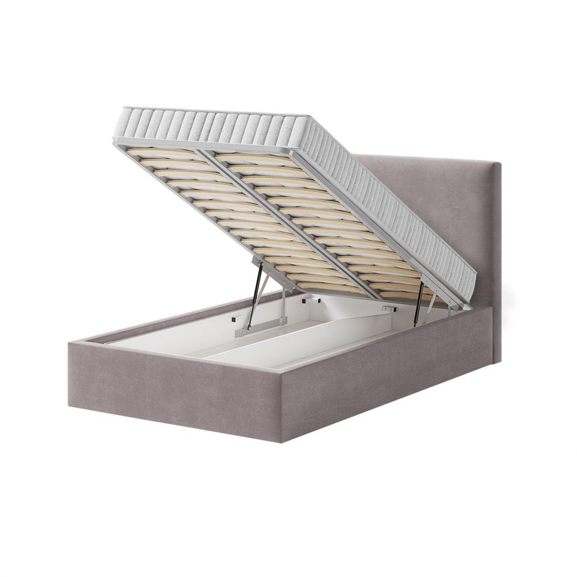 Кровать с ортопедической решеткой с немецкими пневматическими подъемниками в комплекте