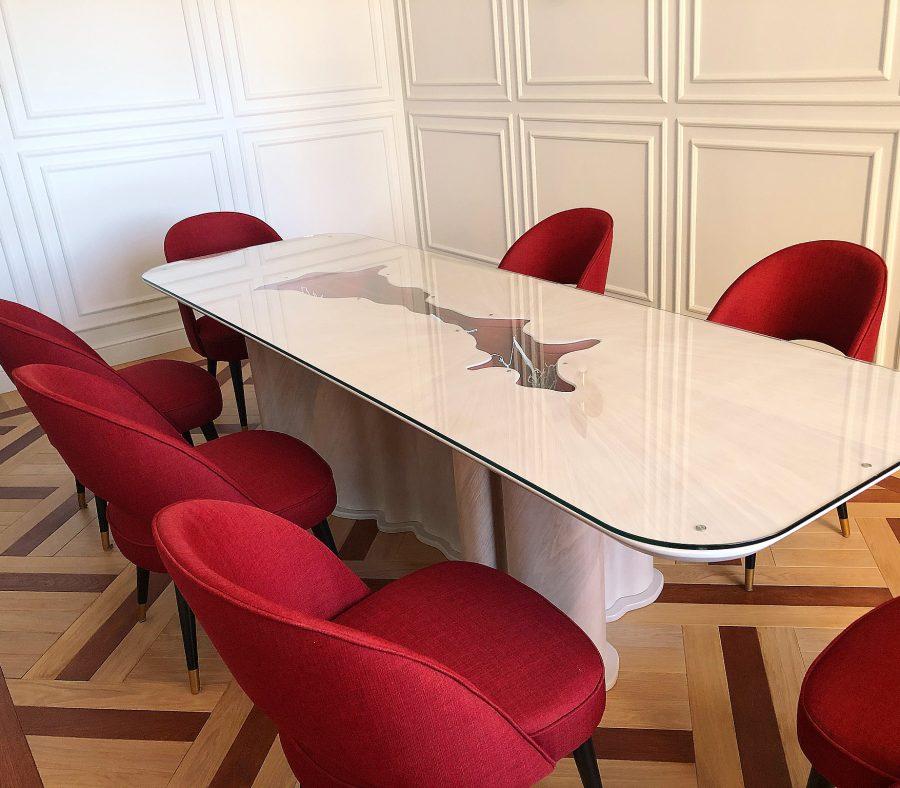 обеденные зоны со стульями Купер