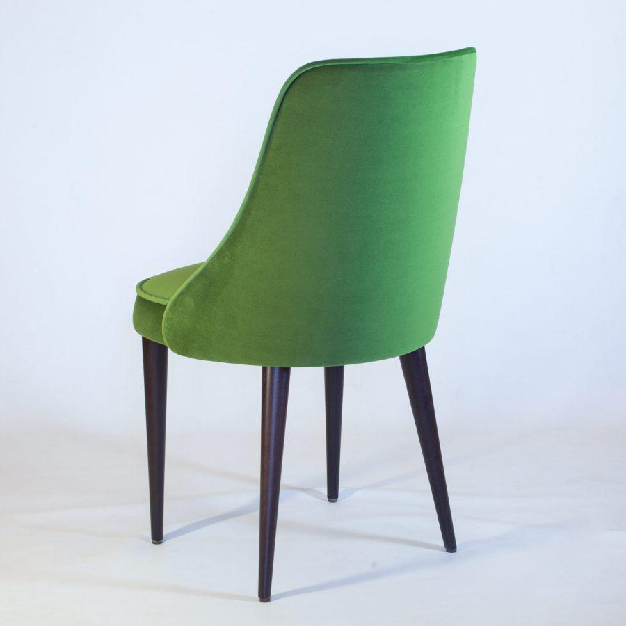 Обеденный стул зеленый велюр