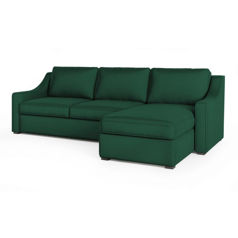 диван с механизмом угловой зеленый