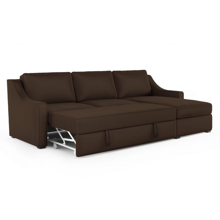 Майк диван механизм спальный выдвижной серо-бежевый