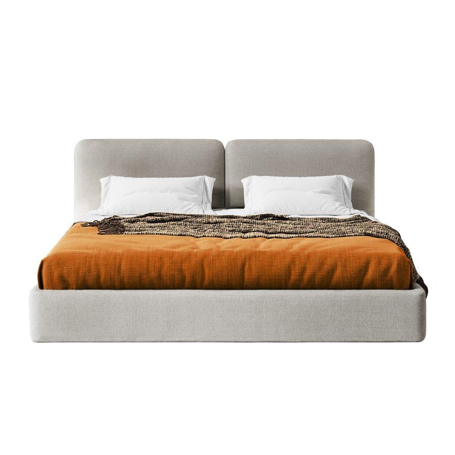 Современная модерн лофт двуспальная кровать