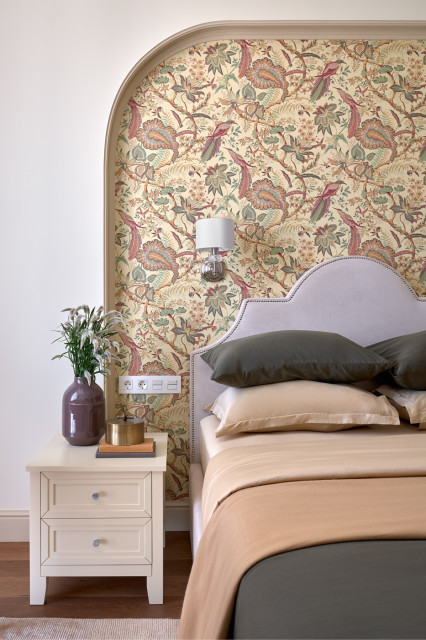 Дизайн интерьера кровать с изголовьем