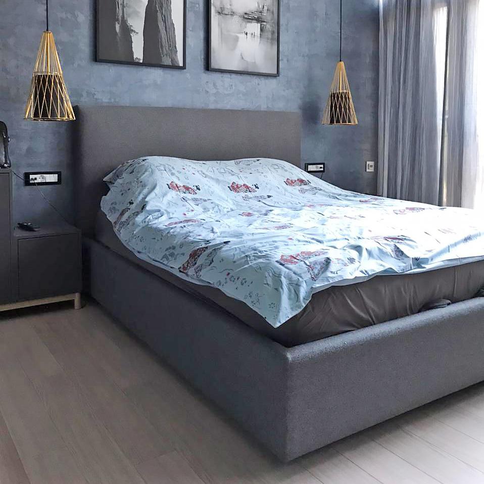 Lavsit_soft_bed_Kent_grey_textile